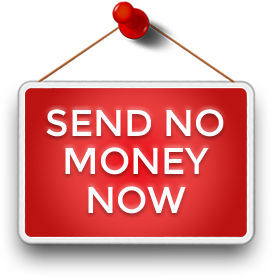 send no money now hanging sign