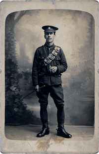 vintage photo of a soldier